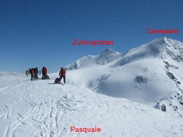 Vrchol Monte Pasquale 3553m.
