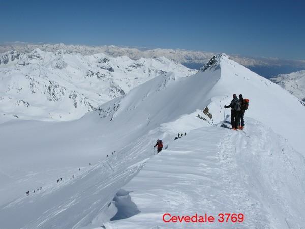 Pohľad z vrchola Cevedale na Zufallspitze